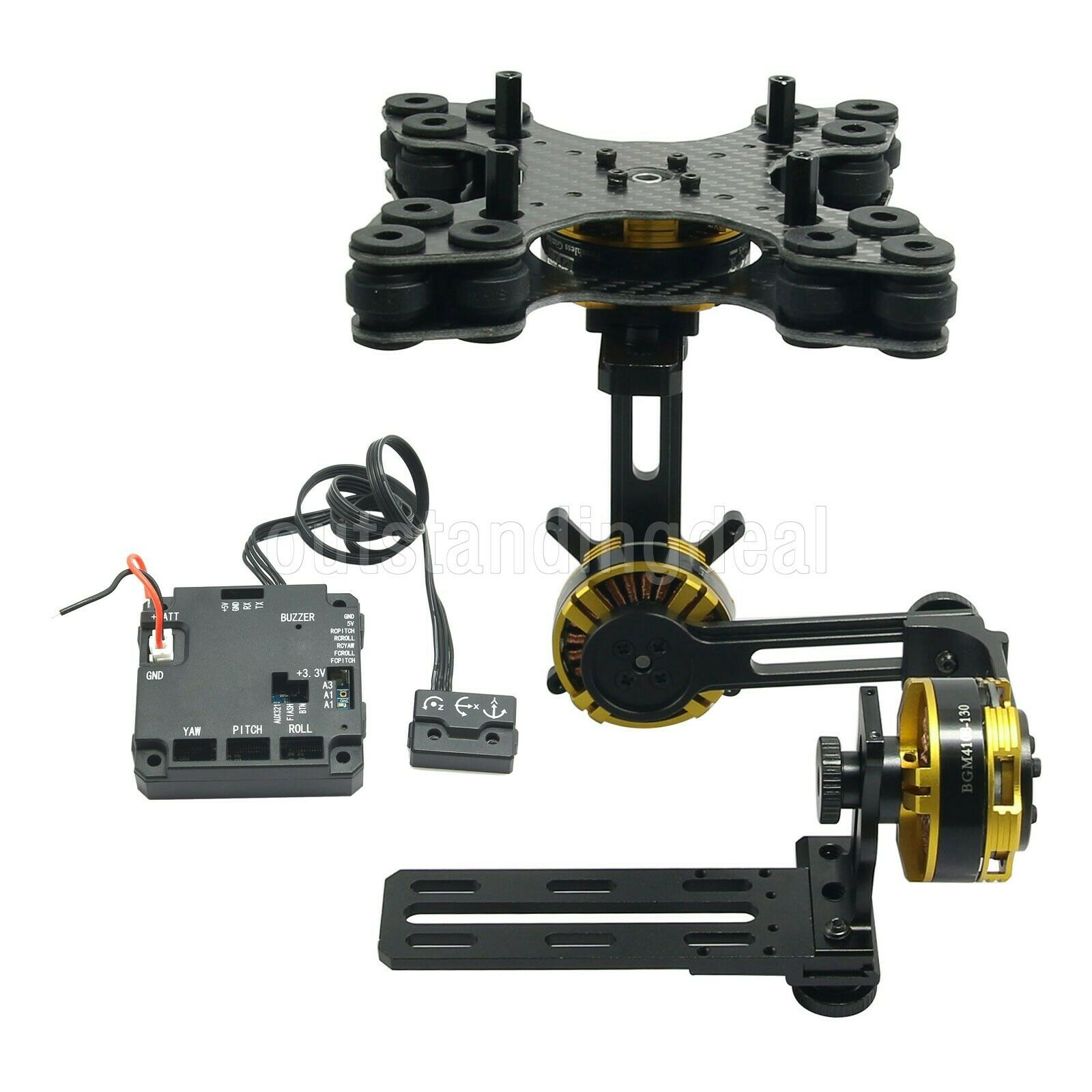 DSLR 3 Axis Brushless Gimbal w  Motors+Controller for  NEX5 6 7 FPV Pcalienteography  in linea