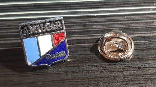 Maße 14x14mm Amilcar Pin Paris dunkelblau emailliert 80er Jahre