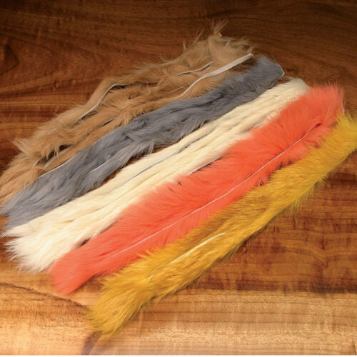 Hareline Natural and Dyed Rabbit Strips All Colors