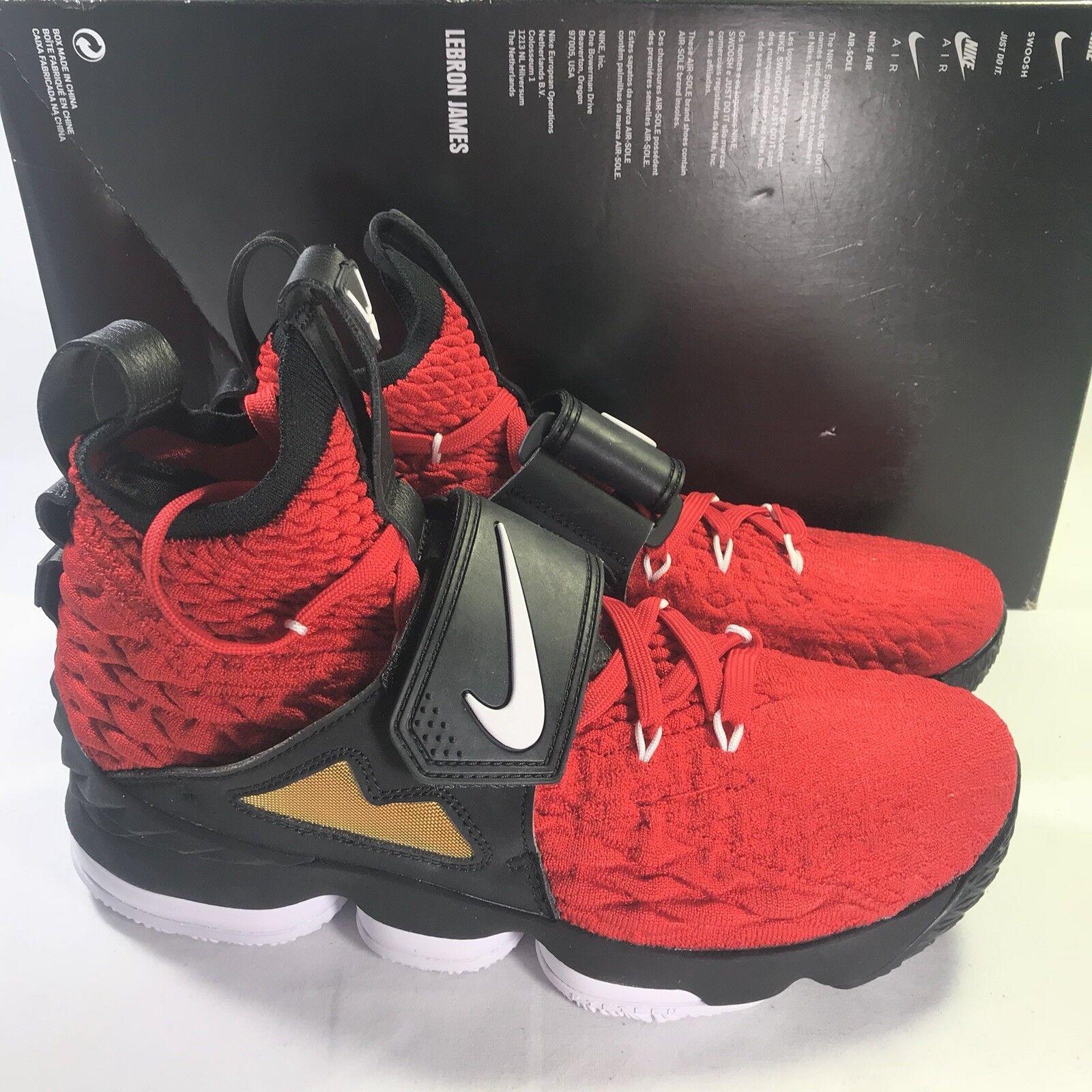 Nike Lebron XV 15 Prime Diamond Turf AO9144-600 Red Deion Men's Size 8