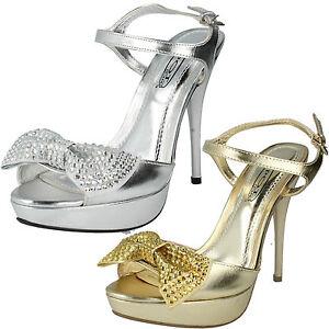 Mujer-Spot-On-Plataforma-Tira-en-Tobillo-Broche-de-cristales-Detial-Zapato-f1973