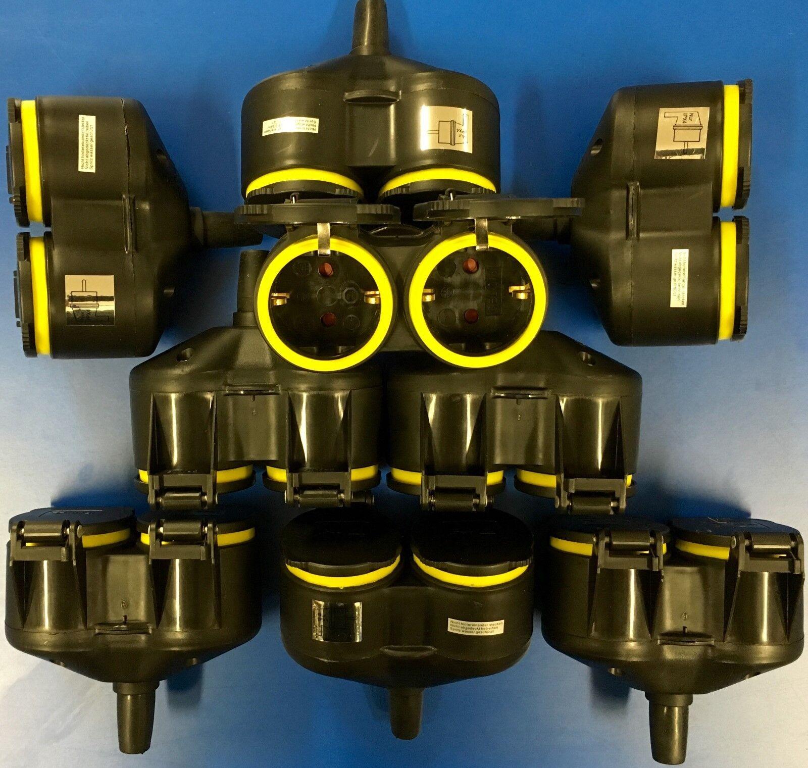 12x 2-fach Schuko Grüneiler 1Kupplung an 2Schutzkontakt GUMMI Adapter QQ | Offizielle Webseite