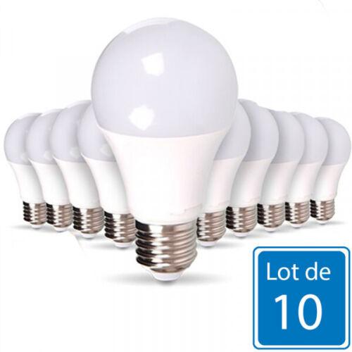 Lot de 10 Ampoules E27 10W A60 équivalent 60W Optonica