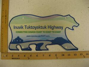Northwest-Territories-Polar-Bear-License-Plate-INUVIK-TUKTOYAKTUK-HIGHWAY-NWT