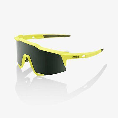 100% speedcraft Bike Occhiali Da Sole Occhiali morbido tatto Banana Lenti Grigio Verde | eBay