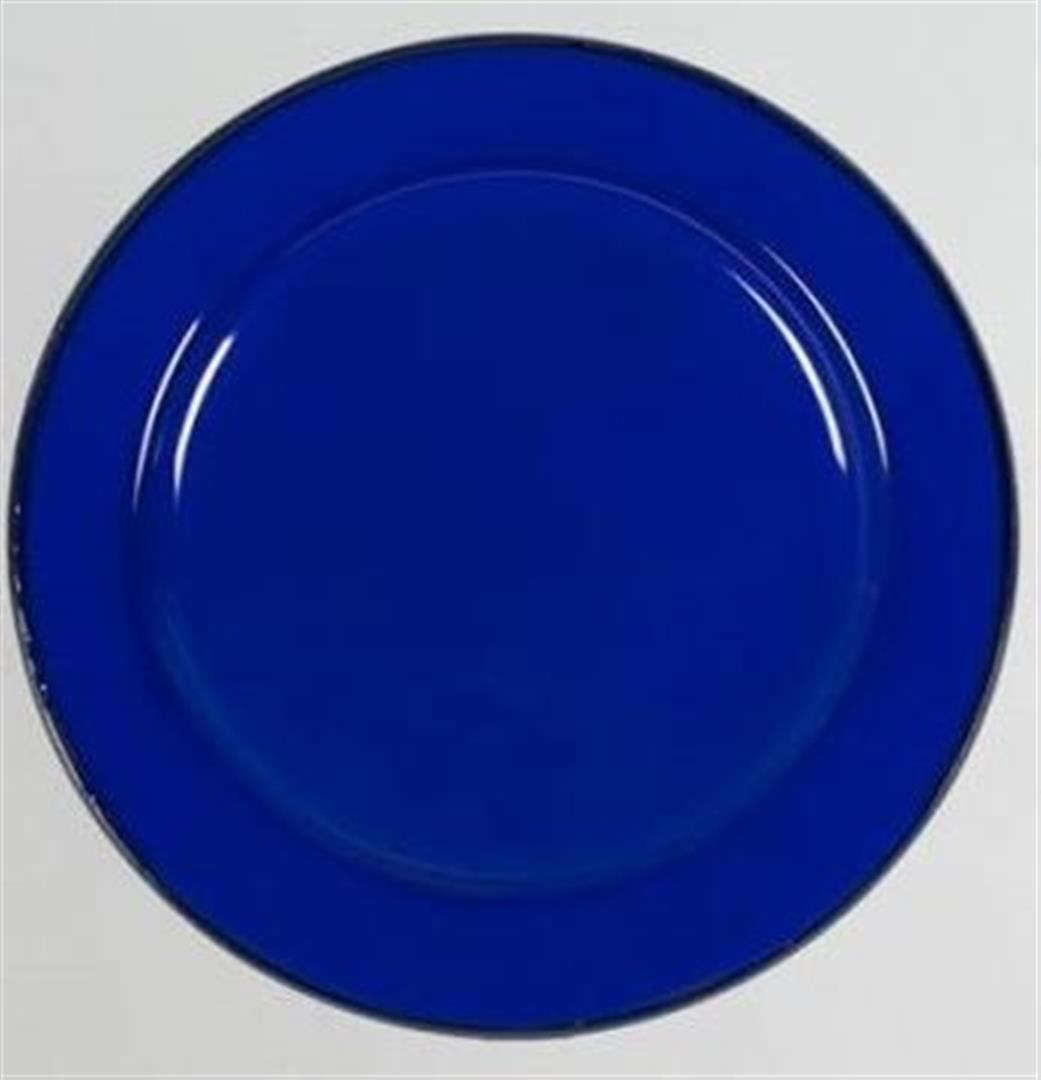 12x 22cm Enamel Dinner Flat Plate  bluee Camping 4WD Kitchen Caravan Boat  incentive promotionals