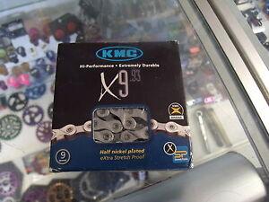 KMC-X9-93-9-27-SPEED-1-2-034-X-11-128-034-SHIMANO-SRAM-MTB-ROAD-NICKEL-PLATED-CHAIN