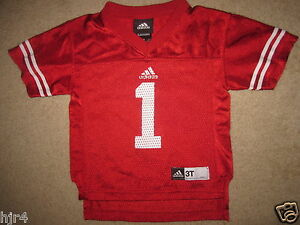 Details about Wisconsin Badgers #1 Football Adidas Jersey Toddler 3T baby
