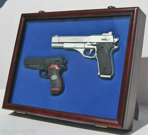 Image is loading Pistol-Gun-Display-Shadow-Box-Case-Cabinet-with- : pistol display cabinet - Cheerinfomania.Com
