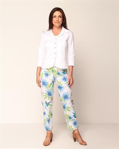 pantalons d'été Veste blanche débardeurs et fleurs Toscane à qwCwat8