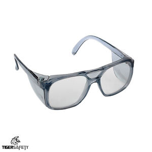 866a209193a Image is loading Proforce-FP05-Unisex-Clear-Protective-Safety-Glasses-Side-