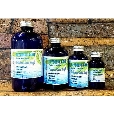 Glycolic Acid Chemical Skin Peel Medical Grade 10%-70% 1-8oz Acne,Scars,Wrinkles