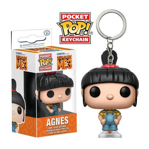 Despicable Me 3 Keychain NEW Funko Agnes Pocket Pop