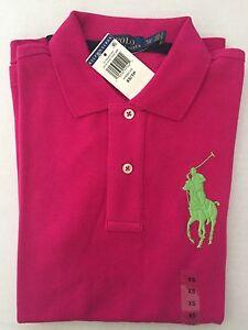 04f5129a NWT Women's Polo Ralph Lauren Big S/S Pony Polo Short shirt Pink -X ...