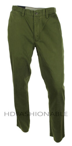 NEW MENS POLO RALPH LAUREN CLASSIC FIT GREEN DARK LODEN COTTON CHINO PANTS