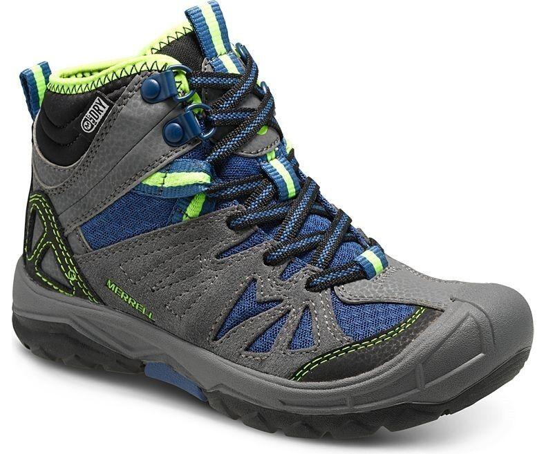 Merrell Capra Mid Kids, waterproof Walking boots for  Kids, grey  new branded