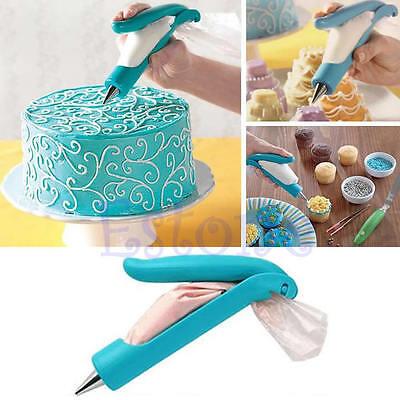 Pastry Icing Piping Bag Nozzle Tips Fondant Cake SugarCraft Decorating Pen Set