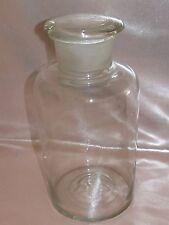 Ancien Bocal Pot en Verre Transparent Soufflé Pharmacie conserve XIXe