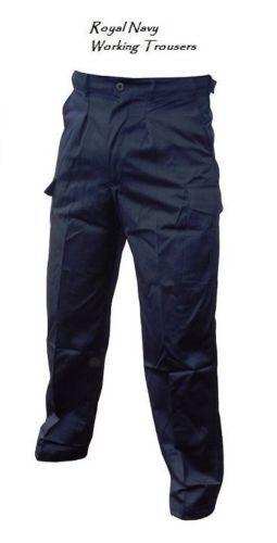 100% Vero Royal Navy Pantaloni Da Lavoro-vita 80-grade 1 Usato-dfn2907 Imballaggio Di Marca Nominata