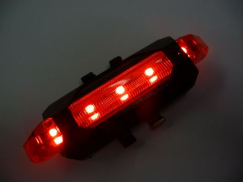Single Red White LED Bike Bicycle USB Rechargeable Rear LIGHTS Front Set