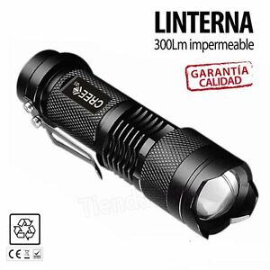 Mini-linterna-led-CREE-Q5-7W-300LM-Flashlight-con-zoom-impermeable-caza-pesca