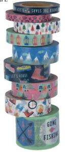 9-Rolls-Camping-Under-the-Stars-Washi-Tape-Tube-Papercraft-Planner-Supply
