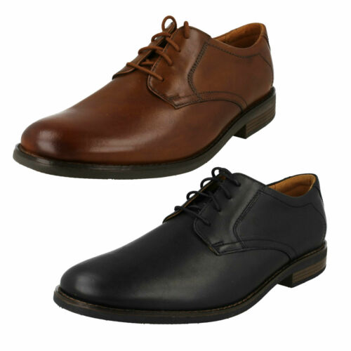 MENS CLARKS LACE UP LEATHER WORK DRESS EVERYDAY FORMAL SHOES BECKEN LACE SIZES