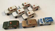 Lot of 8 x Matchbox Lesney England Rolamatics Range Rover Police Patrol Diecast