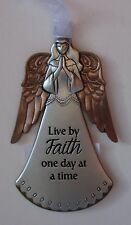 ddd Live by faith one day at a time Angel ANGELS OF FAITH ORNAMENT Ganz
