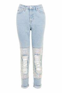 28 £ Knee Jeans 30 Størrelse Mænd 59 Moto Topshop Sequin Rrp wYOzHxxn
