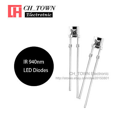 5mm 940nm 53F3C IR LED Transparent Infrared Emitter Diode Clear