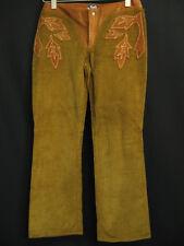 Vintage Dolce & Gabbana D&G Brown Corduroy Leather Trim Pants 43 29 US