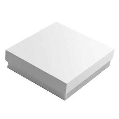Glossy White Cotton Filled Cardboard Box Jewelry Gift Boxes 100 200 500 Ebay
