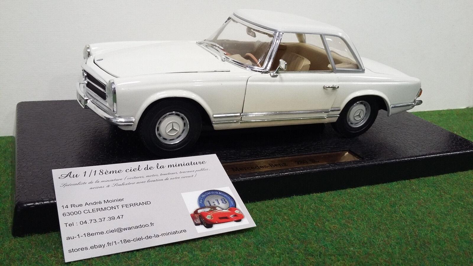 MERCEDES  BENZ 280 SL cabriolet HT 1 18 ANSON 30380 voiture miniature collection