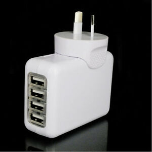 2-1A-4-USB-Port-Travel-Home-Wall-Charger-AC-Adapter-AU-Plug-For-iPhone-Samsung