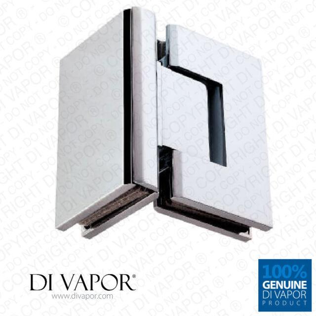 90 Degree Wall Mounted Shower Door Glass HingeChrome PlatedUK R Di Vapor