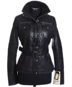 Designer cuir Veste en en Black véritable rétro d'agneau Melissa Designer peau H5zq5