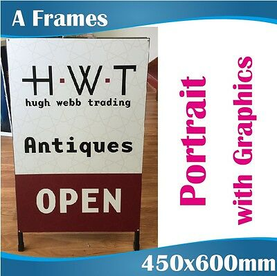 Double Sided A-Board//A-Frame signs//A board signs//450x600cm in Portrait