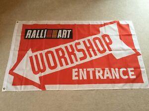 Mitsubishi-Ralliart-Evolution-Shogun-L200-workshop-entrance-flag-banner