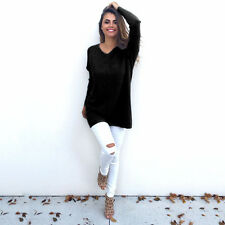 b27eb668fd2 item 1 Women V Neck Sweater Jumper Oversized Baggy Long Sleeve Tops  Pullover Knitwear -Women V Neck Sweater Jumper Oversized Baggy Long Sleeve  Tops Pullover ...