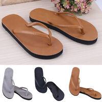 2016 Herren Frauen Leder-flache Strand Flip-Flops Hausschuhe Sandalen Schuhe