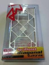 ARACHNOFOBIA DIAGONAL CUSTODIA METALLO METAL CASE per APPLE iPHONE 4 4G 4S