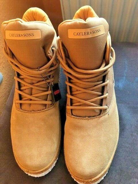 Cayler & Sons Stiefel Beige Winter Stiefel Leder Größe 46 braun Herren Schuhe NEU