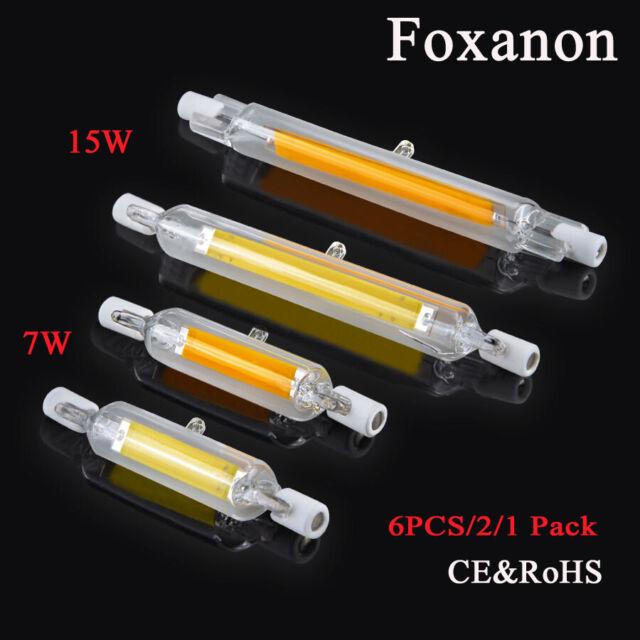 LAMPADA LAMPADINA LED R7S LUCE 360° 78/118 mm 220-230V 7W 15W 78/118mm tubo