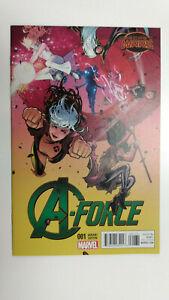 A-FORCE #1  1st Printing - Dauterman Variant 1:25 - Singularity    / 2015 Marvel