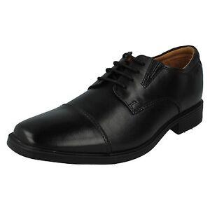 Shoes Cap Mens Black Up Lace Clarks Style Leather Tilden qpX7fx6wv