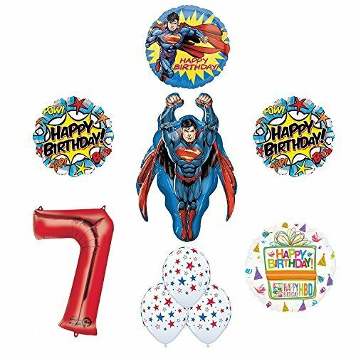 Superman 7th Birthday Party Supplies and Balloon Decorations eBay