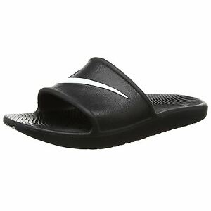 Image is loading Nike-Kawa-Shower-Black-White-Womens-Slip-on-