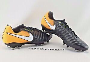 Nike Tiempo Legacy III FG - SIZE 8.5 - NEW - 897748-008 Boots Orange ... b9020426d7