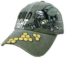 U.S. Navy Seabees Hat - USN We Build / We Fight OD Green Baseball Cap 6039